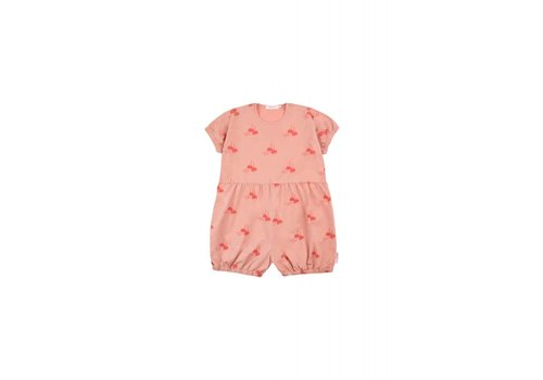 Tiny Cottons Tiny Cottons playsuit candy apples terracotta-red