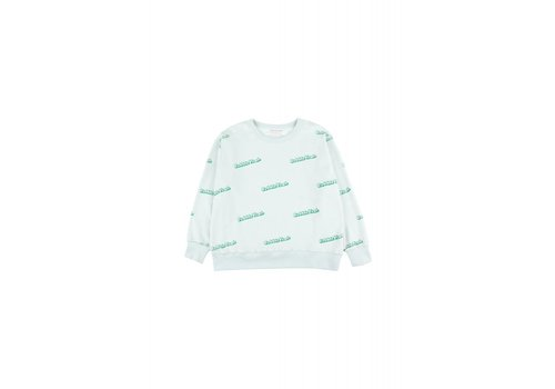 Tiny Cottons Tiny Cottons sweater bubble yeah light mint-green