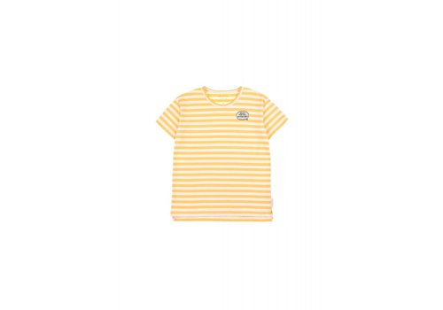 Tiny Cottons Tiny Cottons t-shirt adventure stripes canary
