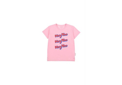 Tiny Cottons Tiny Cottons t-shirt hey you pink-red