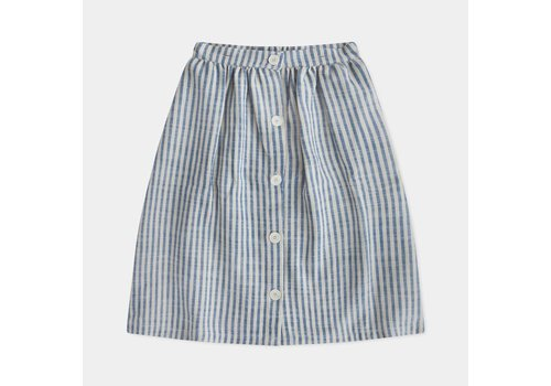 Repose Ams Repose ams button down skirt sand blue stripe