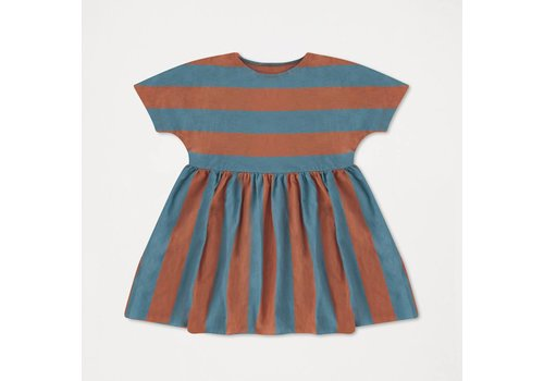 Repose Ams Repose ams ruffle dress blue stripe