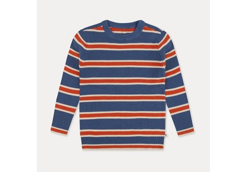 Repose Ams Repose ams knit sweater washed blue stripe