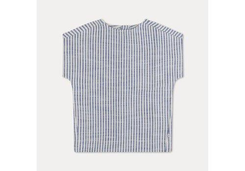 Repose Ams Repose ams t-shirt woven sand blue stripe