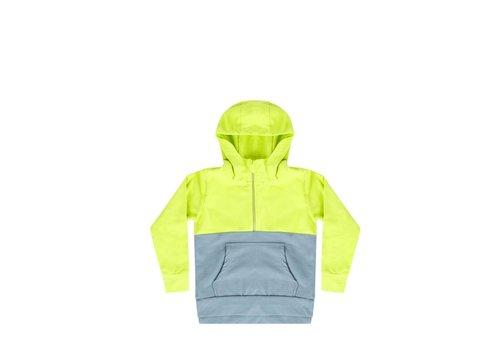 Mingo Mingo hoodie smoke blue - sun glow