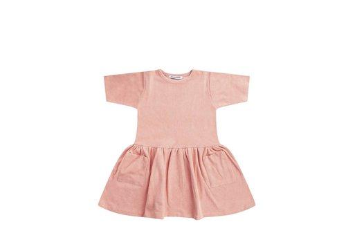 Mingo Mingo dress terry peach pink