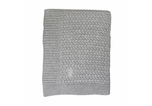 Mies & Co Mies & Co Soft knitted ledikant deken Soft Grey