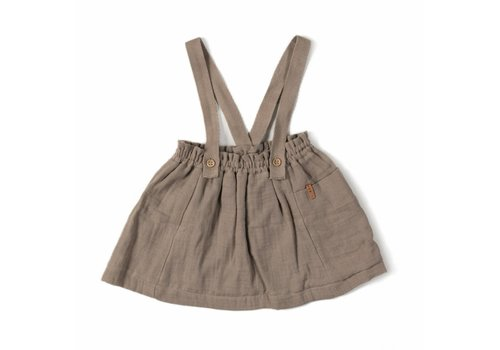 Nixnut Nixnut strap skirt taupe