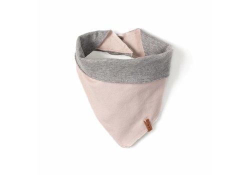 Nixnut Nixnut bandana bib grey - old pink
