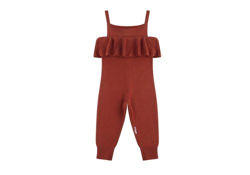Maed for mini knit jumpsuit spicey parrot