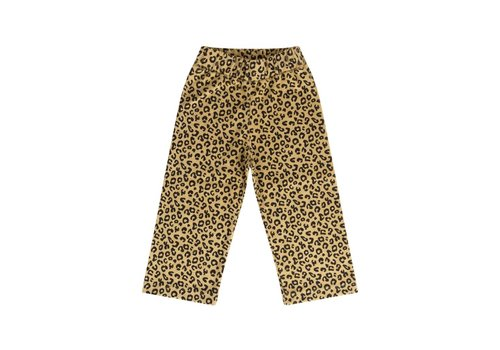 Maed for mini pants yellow leopard