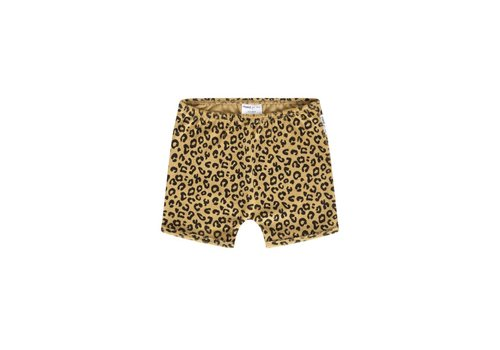 Maed for mini shorts yellow leopard