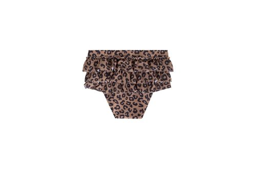 Maed for mini Maed for mini zwembroek ruffles brown leopard