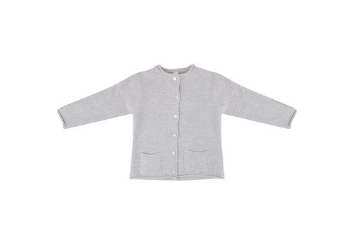 Little Indians Little indians cardigan knitted light grey