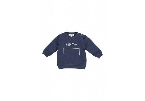 GRO Company Gro company baby sweater stone - navy logo