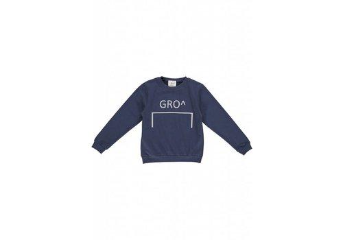GRO Company Gro company sweater stone - navy logo