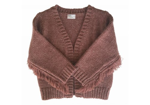 Maed for mini cardigan fringe knit eery octopus