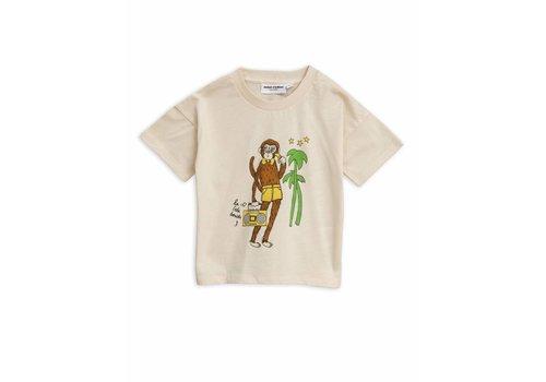 Mini Rodini Mini Rodini t-shirt cool monkey off white