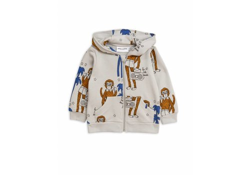 Mini Rodini Mini Rodini hoody cool monkey grey
