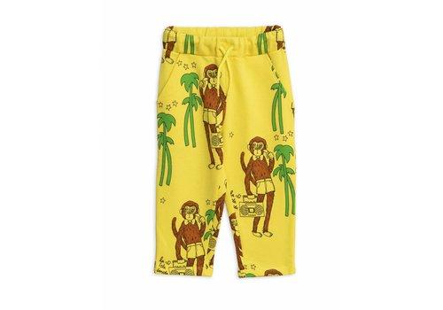 Mini Rodini Mini Rodini sweatpants cool monkey yellow