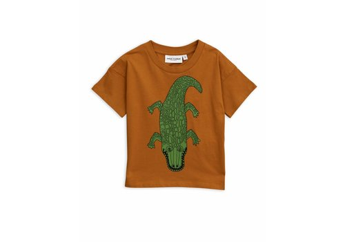 Mini Rodini Mini Rodini t-shirt crocco brown