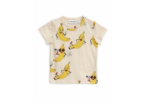 Mini Rodini Mini Rodini t-shirt banana off white aop