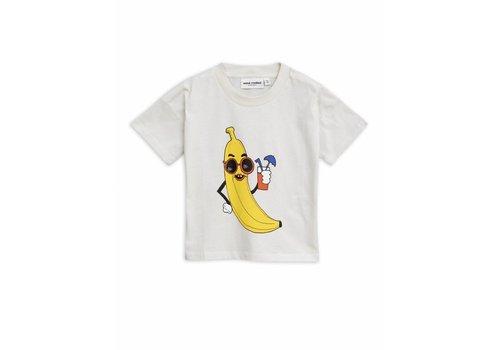 Mini Rodini Mini Rodini t-shirt banana single off white