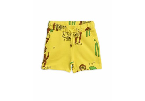 Mini Rodini Mini Rodini sweatshorts cool monkey yellow