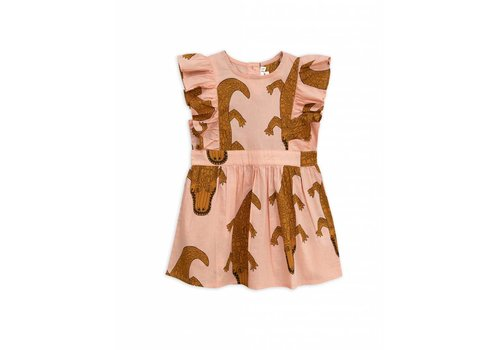Mini Rodini Mini Rodini dress crocco pink
