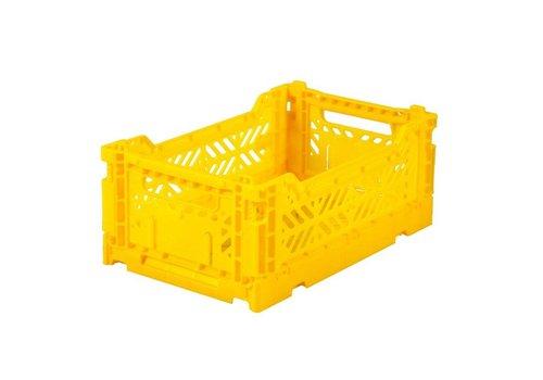Ay-Kasa folding crate mini yellow