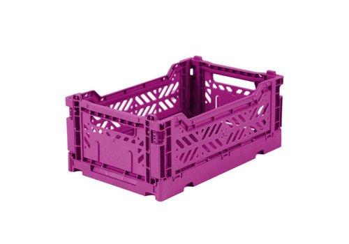 Ay-Kasa folding crate mini purple