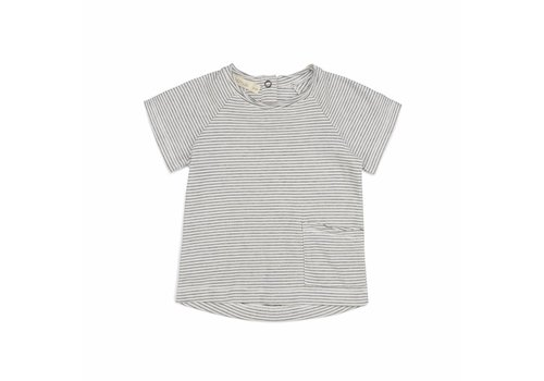 Phil & Phae Phil & Phae t-shirt raw edge vanilla stripe