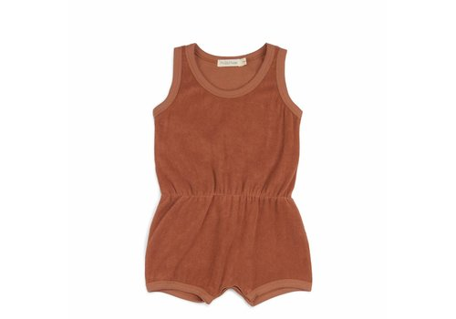 Phil & Phae Phil & Phae playsuit frotte burnt clay