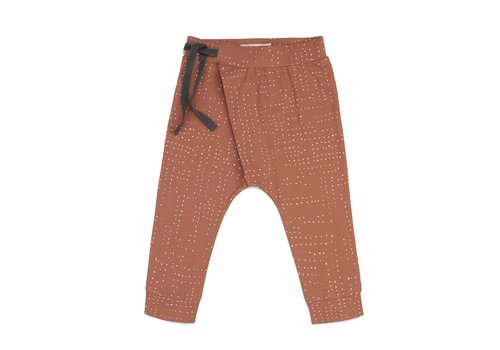 Phil & Phae Phil & Phae harem pants burnt clay aop