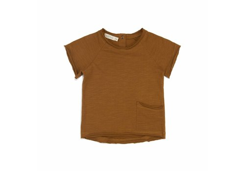 Phil & Phae Phil & Phae t-shirt raw edge gold chamomile