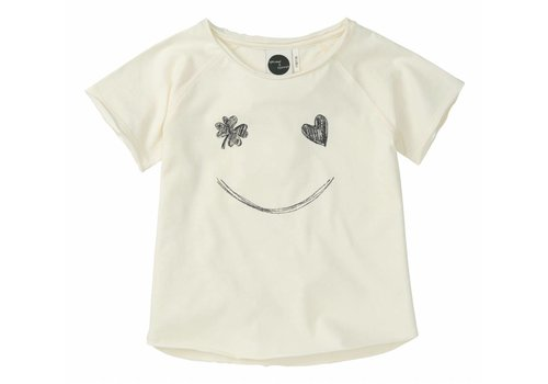 Sproet & Sprout Sproet & Sprout t-shirt smile white