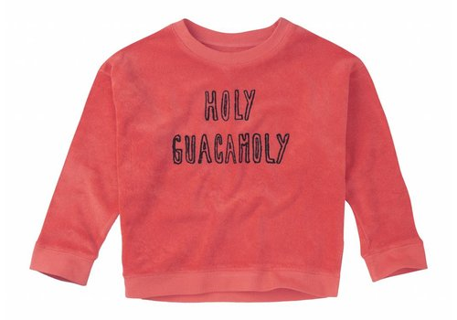 Sproet & Sprout Sproet & Sprout sweater holy guacamoly red