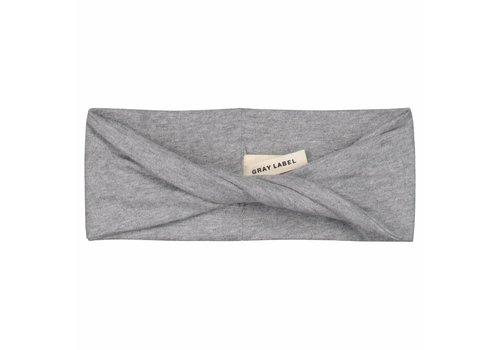 Gray Label twist haarband grey 1-4