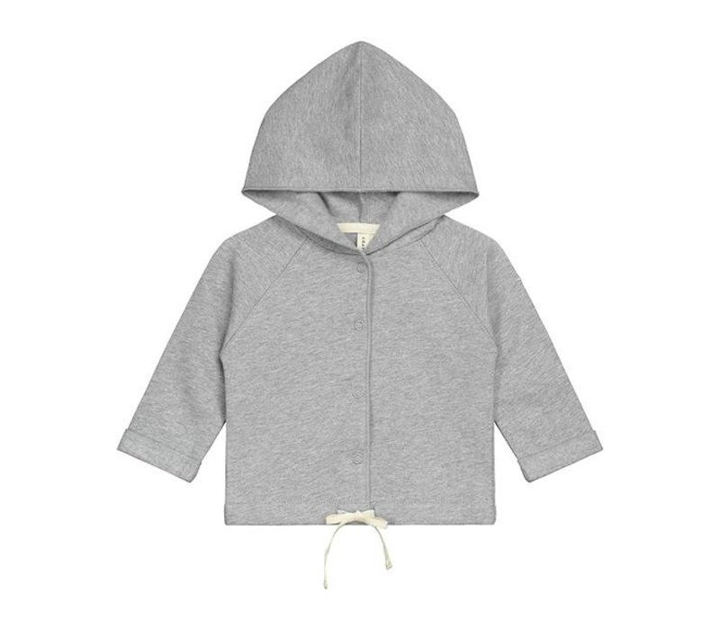 Gray label vestje capuchon grijs