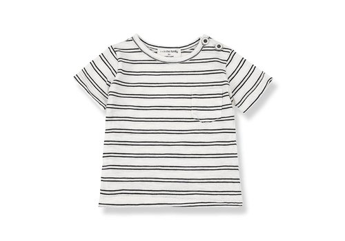 1 + in the family 1 + in the family luca t-shirt off-white / black