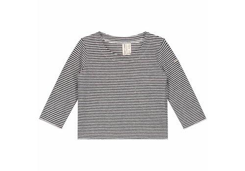 Gray label baby longsleeve stripe black-cream