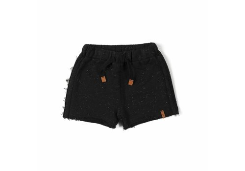 Nixnut Nixnut basic shorts black speckle