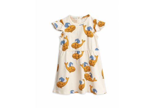 Mini Rodini Mini Rodini dress whale orange