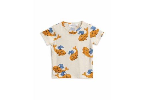 Mini Rodini Mini Rodini t-shirt whale orange aop