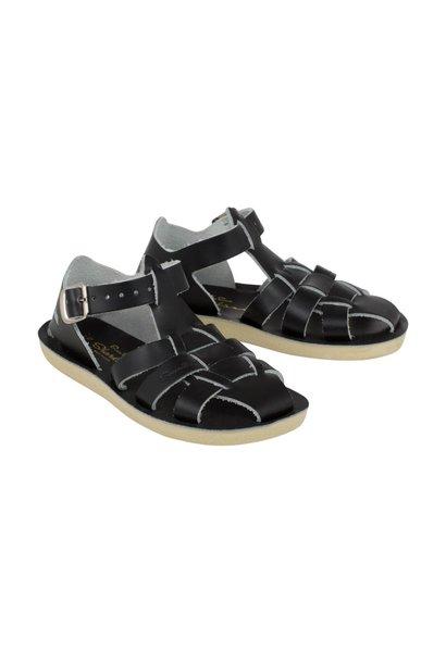 Salt water sandals shark black