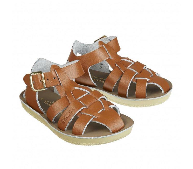 Salt water sandals shark tan