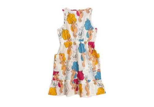 Mini Rodini Mini Rodini seahorse flounce dress