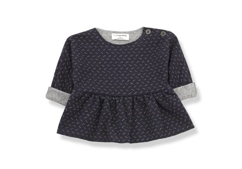 1 + in the family 1 + in the family muriel blouse blue/grey