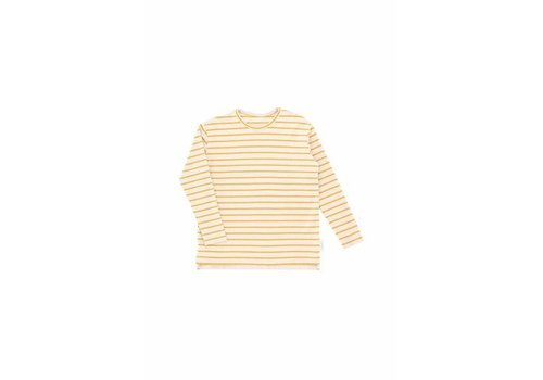 Tiny Cottons Tiny Cottons longsleeve small stripes beige/mustard