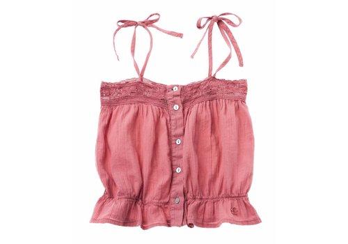 Tocoto vintage Tocoto vintage kids top pink lace